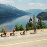 Cycling along Hwy 6 - Slocan Lk (Courtesy Pyper Photography)